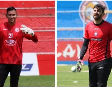 Los porteros José Carlos y Álvaro García, serán determinantes en el Apertura 2019 de Xelajú MC. (Foto Prensa Libre: Raúl Juárez)