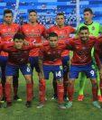 Este fue el primer once que utilizó Horacio Cordero contra el Alianza. El equipo estaba encabezado por su portero Ábner Úbeda. (Foto Prensa Libre: CSD Municipal)