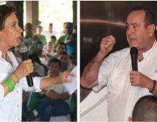 Sandra Torres, candidata de la UNE, y Alejandro Giammattei, presidenciable de Vamos, irán a balotaje el 11 de agosto del 2019. (Foto Prensa Libre: Dony Stewart)