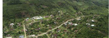 Santa Clara, Chajul, Quiché, se ubica en medio de las montañas, por lo que vecinos temen deslizamientos ante lo sismos. (Foto Prensa Libre: Cortesía Conred)