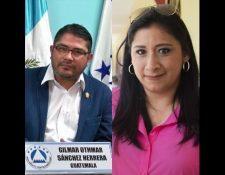 Gilmar Othmar Sánchez Herrera y Eva Nicolle Monte Bac. (Fotos Guatevisión/Hemeroteca y @EvaMontegt).