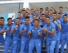 Los jugadores de la Selección Sub 23 están listos para la serie frente a los costarricenses. (Foto Prensa Libre: COG)