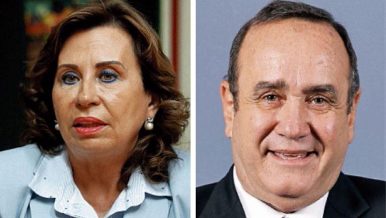 Sandra Torres y Alejandro Giammattei se disputarán la presidencia de la República en la segunda vuelta electoral del 11 de agosto. (Foto Prensa Libre: Creación propia)