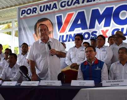 Giammattei visitó Quetzaltenango con una serie de promesas