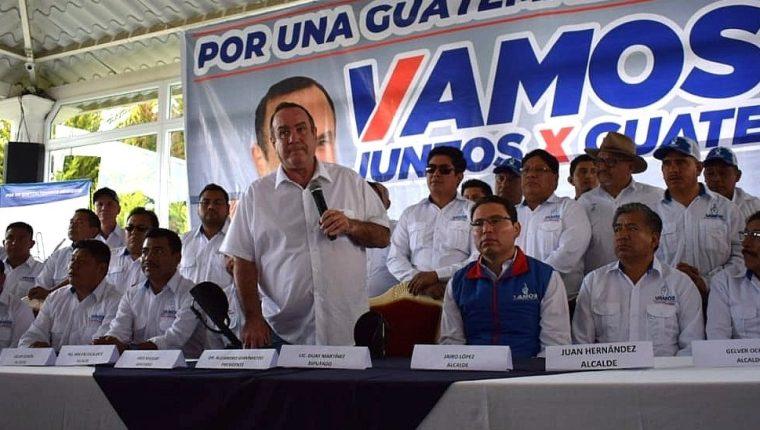 El presidenciable Alejandro Giammattei visitó Quetzaltenango este domingo 14 de julio de 2019.