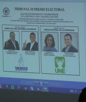Torres y Giammattei eligen su lugar en la papeleta para las votaciones en segunda vuelta