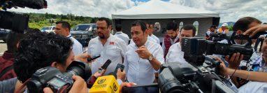 Jimmy Morales habló en su visita a Santa Elena Barrillas, Villa Canales. (Foto Prensa Libre: Erick Ávila)