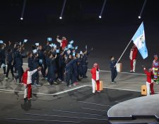 Guatemala desfiló este viernes en la ceremonia inaugural de los Juegos Panamericanos de Lima 2019 (Foto Prensa Libre: Carlos Vicente)
