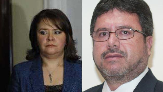 Subillaga y Bracamonte furon funcionarios del Partido Patriota del 2012 al 2015. (Foto Prensa Libre)