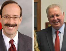 Eliot Engel y Albio Sires, congresistas de Estados Unidos. (Foto Prensa Libre: Hemeroteca PL)