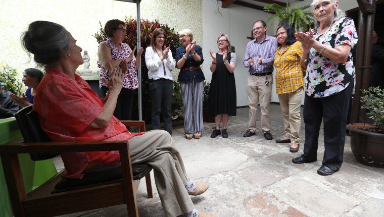La inauguración de los trabajos de restauración en el Hogar para el Adulto Mayor Santo Domingo. (Foto Prensa Libre: Óscar Rivas)