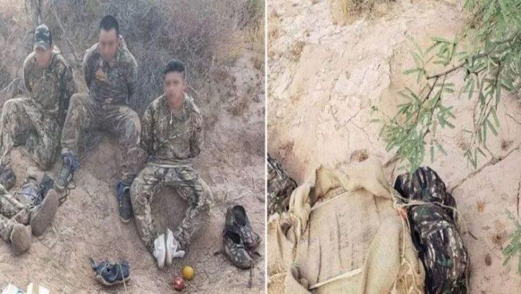 """Agentes fronterizos capturaron a supuestos """"burros"""" cuando transportaban droga hacia Estados Unidos. (Foto Prensa Libre: La Opinión)"""