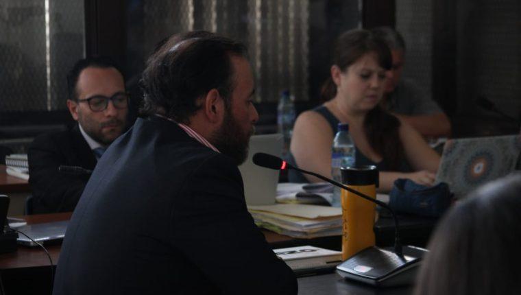 Juan Arturo Jegerlehner Morales, colaborador eficaz, condenado por el caso Construcción y corrupción fase dos y concuño de Alejandro Sinibaldi, declaró en el juicio del caso Odebrecht. (Foto Prensa Libre: Noé Medina)