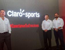 Directivos de Claro dieron a conocer los detalles del nuevo canal deportivo para Guatemala. Foto Norvin Mendoza