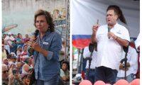Sandra Torres y Alejandro Giammattei ofrecieron a los votantes combatir la inseguridad. (Foto Prensa Libre: Hemeroteca PL)