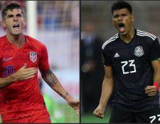Estados Unidos y México, los dos grandes de Concacaf, chocarán el domingo por la corona en el Copa Oro. (Foto Prensa Libre AFP).