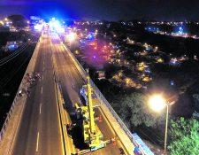 Los trabajos en el puente Belice continuarán este fin de semana.(Foto Prensa Libre: Hemeroteca PL)