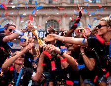 La selección de futbol de Estados Unidos celebró en Nueva York su reciente título mundial. (Foto Prensa Libre: AFP)
