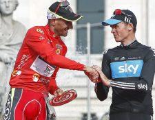 Christopher Froome fue declarado ganador de la Vuelta a España del 2011, tras el caso de dopaje del español Juan José Cobo. (Foto Prensa Libre: EFE).