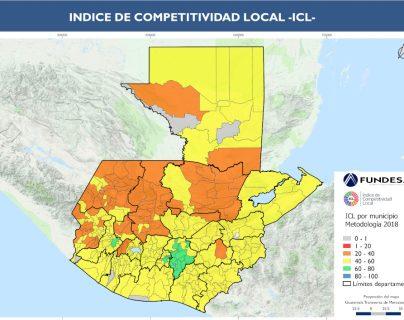 El Índice de Competitividad Local (ICL) identificó las brechas en 12 pilares y la evaluación de los indicadores. (Foto Prensa Libre: Fundesa)