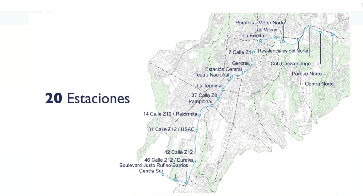 ¿Cómo será el Metroriel que conectará Centra Norte y Centra Sur en 41 minutos?