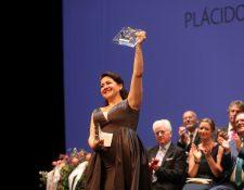 La soprano guatemalteca Adriana González ha sido la ganadora de la XXVII edición de Operalia, concurso fundado por el tenor Plácido Domingo, en las modalidades de ópera y zarzuela, hoy viernes en el Teatro Nacional de Praga. (Foto Prensa Libre: EFE/RADOVAN SUBIN)