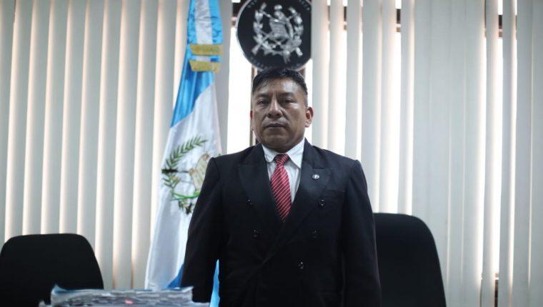 El juez Pablo Xitumul de Paz, presidente del Tribunal de Mayor Riesgo C. (Foto Prensa Libre: Érick Ávila)