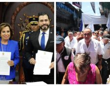 Los candidatos que se disputan la Presidencia de la República realizaron actividades en distinto lugares. (Foto Prensa Libre: Alejandro Escobar y Érick Ávila)