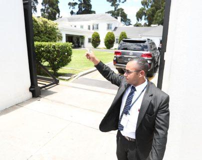 La casa del embajador de EE. UU. en Guatemala, Luis Arreaga, fue el lugar donde se desarrollaron las reuniones del secretario Kevin McAleenan. (Foto Prensa Libre: Carlos Hernández)