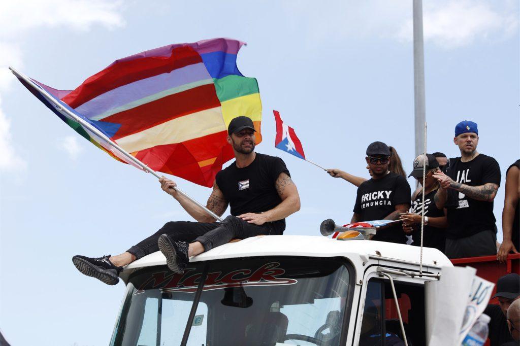 Ricky Martin, Residente y Bad Bunny entre los artistas que integran las protestas en Puerto Rico