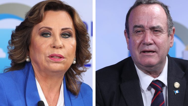 Sandra Torres obtuvo 25.53% de votos y  Alejandro Giammattei 13.96% en la primera vuelta. (Foto Prensa Libre: Hemeroteca PL)