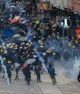 Las protestas en Hong Kong llevan más de dos meses. (Foto Prensa Libre: AFP)
