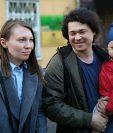 Dmitry Prokazov asegura que aunque simpatizaban con la protesta, solo habían salido a dar un paseo.
