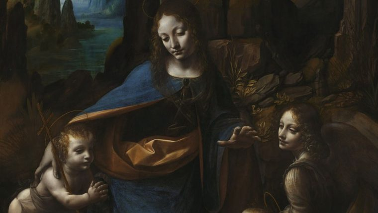 """Un análisis con tecnología de rayos X sacó a la luz un secreto de """"La Virgen de las Rocas"""", de Leonardo Da Vinci."""