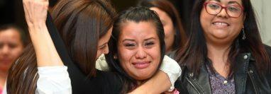 """""""Gracias a Dios se hizo justicia"""", declaró una emocionada Evelyn Hernández tras conocer el veredicto de absolución. GETTY IMAGES"""