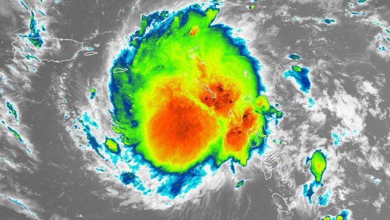 Dorian ganó en intensidad a medida que se acercaba a Puerto Rico.