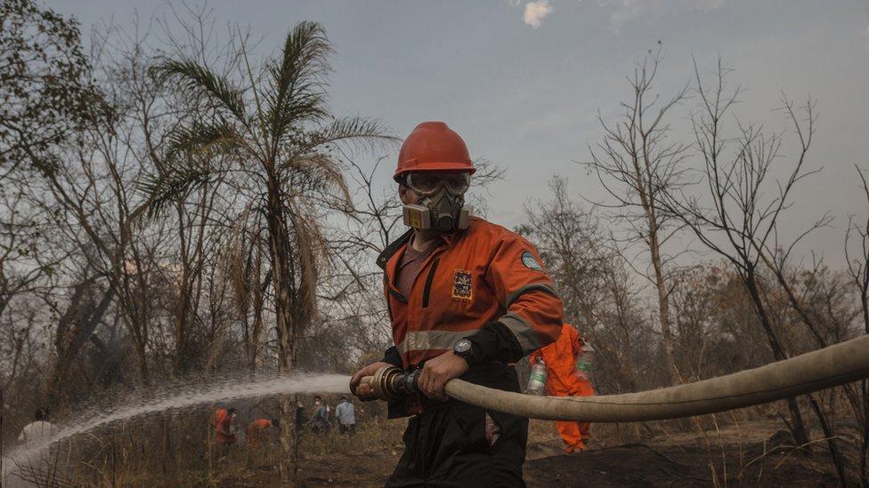 """Incendios en el Amazonas: """"El pueblo ya no tiene más hombres"""", la dramática lucha por salvar de los incendios el mayor tesoro natural de Bolivia"""