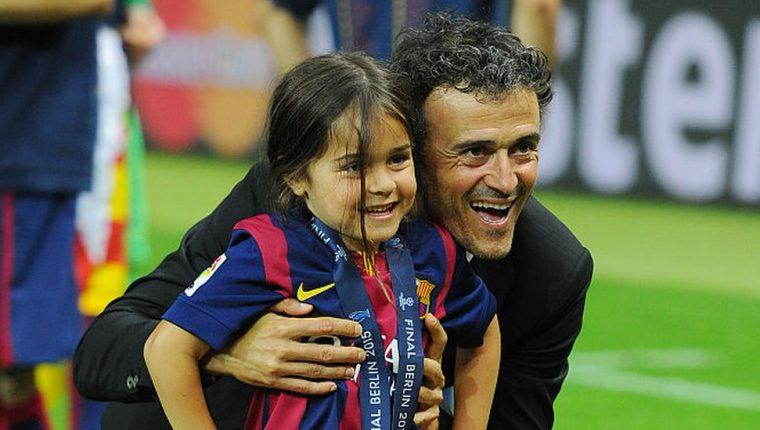 Xana había festejado junto a su padre, Luis Enrique, algunos de sus éxitos futbolísticos.