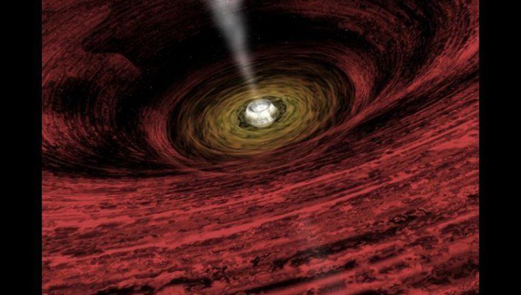 Imagen artísitica de una agujero negro supermasivo. (Foto: AFP)