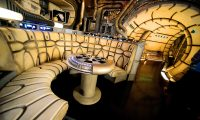 ORLANDO, FLORIDA - AUGUST 27: General view of the Millennium Falcon: Smugglers Run ride at the Star Wars: Galaxy's Edge Walt Disney World Resort Opening at Disneys Hollywood Studios on August 27, 2019 in Orlando, Florida.   Gerardo Mora/Getty Images/AFP == FOR NEWSPAPERS, INTERNET, TELCOS & TELEVISION USE ONLY ==