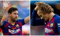 Lionel Messi y Antoine Griezmann. (Foto Prensa Libre: EFE).
