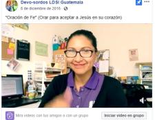 Abby Arias es una persona sorda que comparte mensajes de espiritualidad y motivacionales en su página de Facebook.