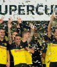 Los jugadores del Borussia Dortmund celebraron a lo grande. (Foto Prensa Libre: EFE)