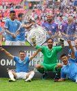 Así festejaron los jugadores del Manchester City. (Foto Prensa Libre: EFE)