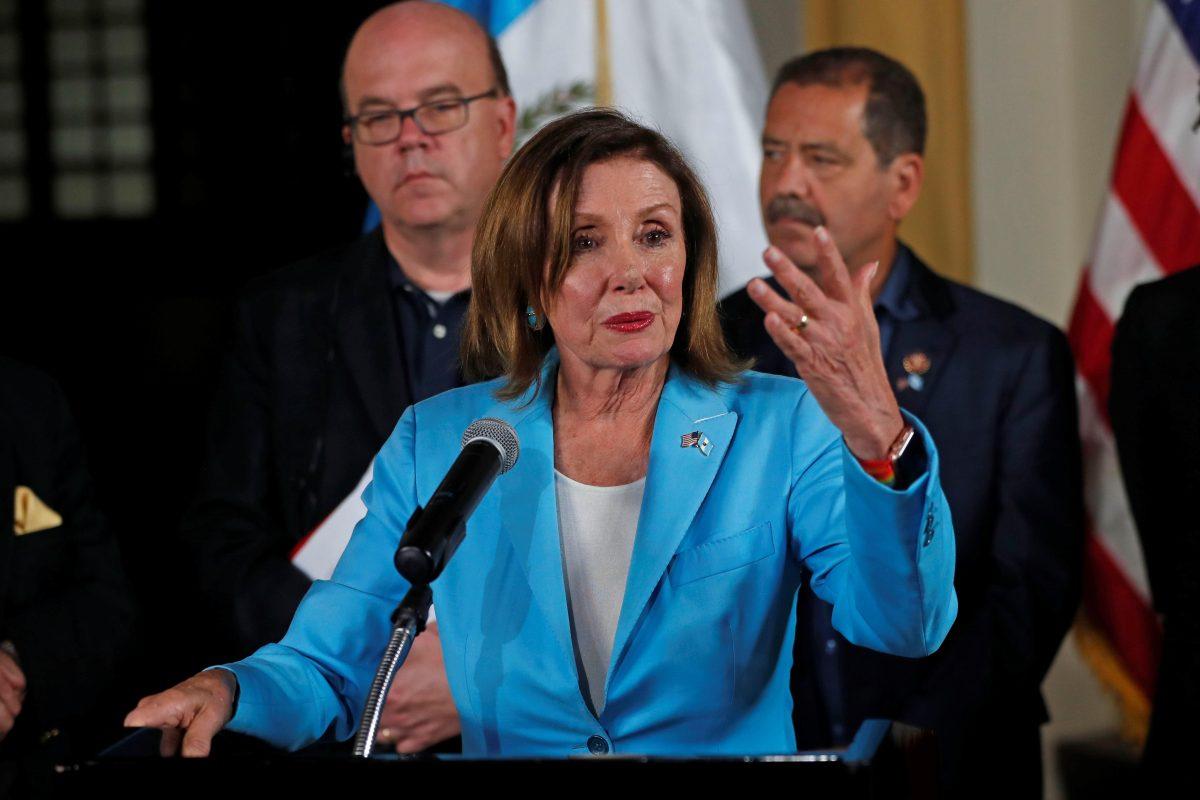Congresista Nancy Pelosi dice que no puede haber seguridad hasta que acabe la corrupción