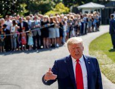 El presidente Donald Trump justificó las redadas que ordenó en Misisipi. (Foto Prensa Libre EFE)