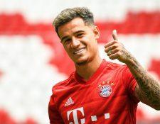 El internacional brasileño Philippe Coutinho fue presentado como jugador oficial del Bayer Múnich. (Foto Prensa Libre: EFE)