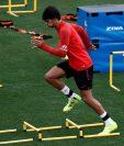 Joao Félix durante un entrenamiento realizado en Ciudad Deportiva de Majadahonda. (Foto Prensa Libre: EFE)