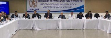 Primera reunión de la Comisión de Postulación para Corte Suprema de Justicia. (Foto Prensa Libre: Juan Carlos Pérez)