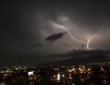 La tormenta eléctrica también es sinónimo de lluvia, especialmente en la Costa Sur. (Foto: cortesía Ángel Figueroa)